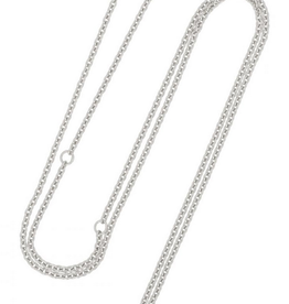 Fashionology Rolo Necklace Sterling Silver