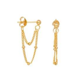 Eline Rosina Two chains earrings