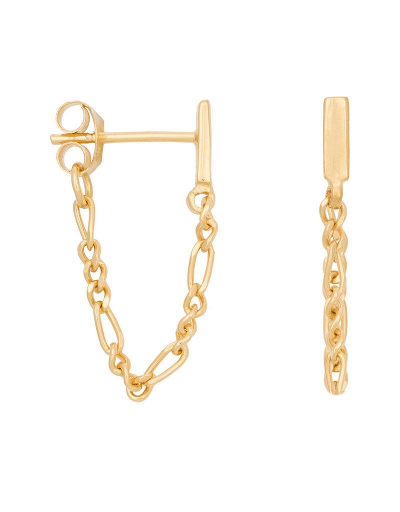 Eline Rosina Mini bar chain earrings