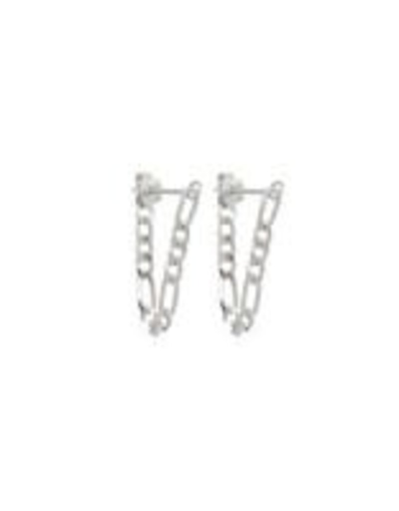 Fashionology  Vintage Chain Earrings Sterling Silver
