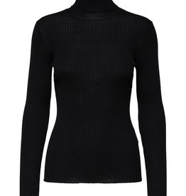 Selected Femme Costa knit rib rollneck