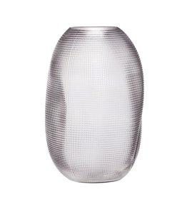 Hubsch Vase, glass, smoked, round