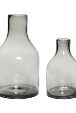 Hubsch Vase, glass, smoked s/1