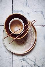 HKliving HK living rustic dinner plate cream/brown