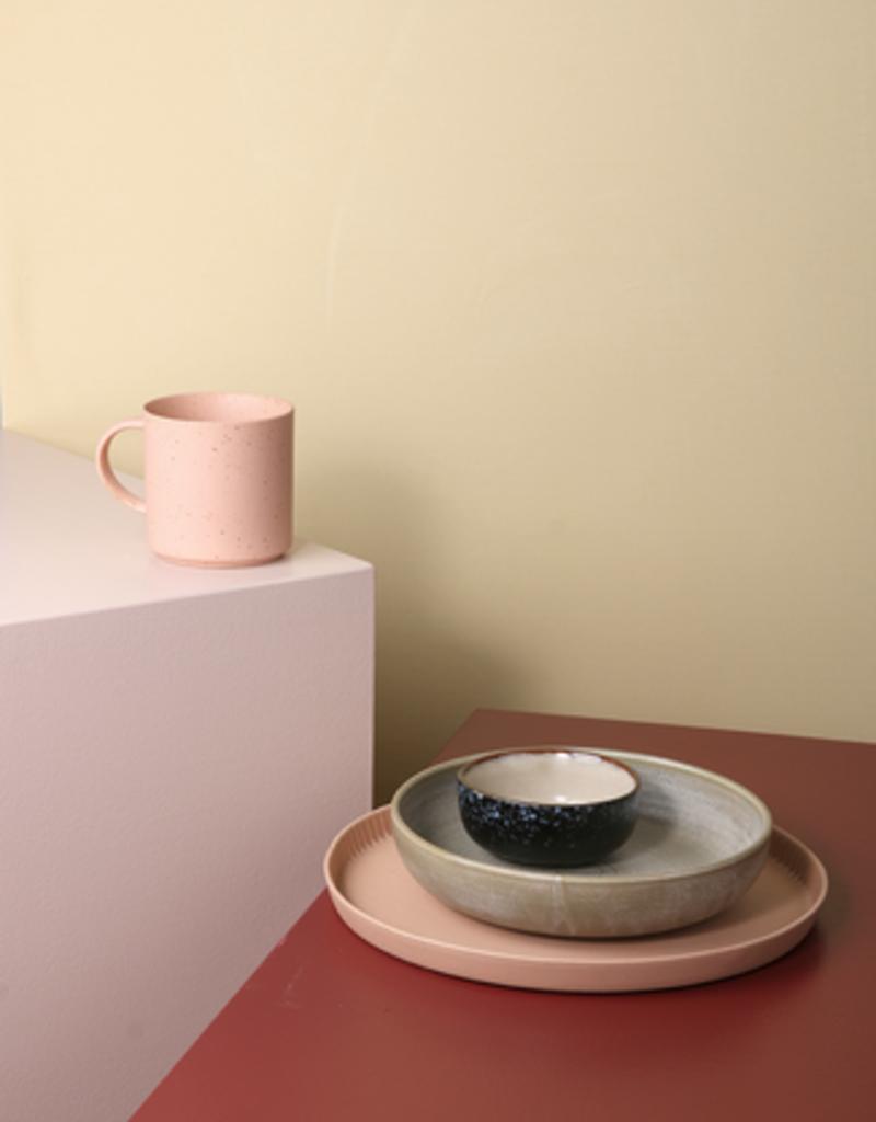 HKliving Speckled coffee mug nude