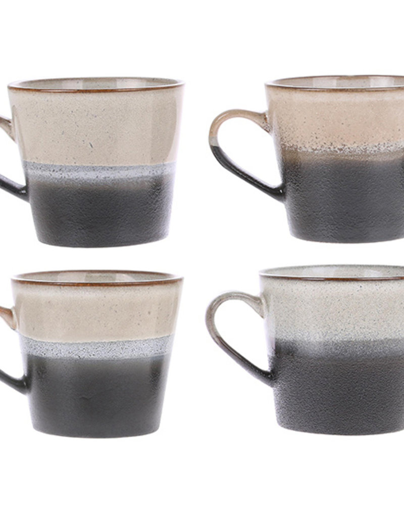 HKliving 70's cappuccino mug: rock