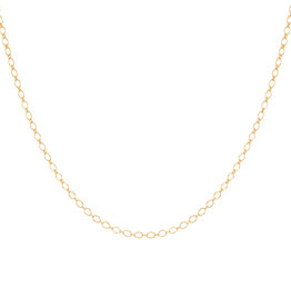 Eline Rosina Marquise charm necklace in gold plated sterling silver