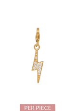 Eline Rosina  Thunderbolt charm in gold plated sterling silver
