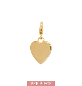 Eline Rosina Heart charm in gold plated sterling silver