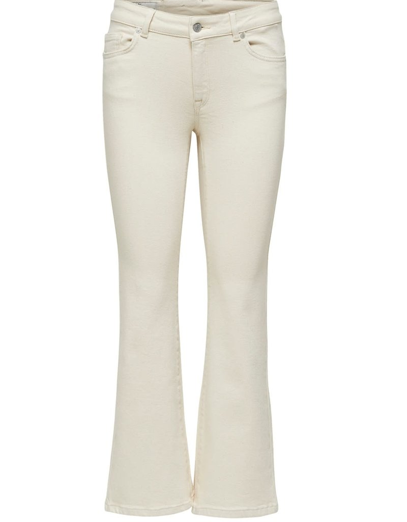 Selected Femme Eve star white crop flare jeans