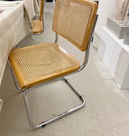 Vintage thonet stijl stoel s32 - naturel