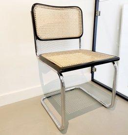 Vintage thonet stijl stoel s32 - black