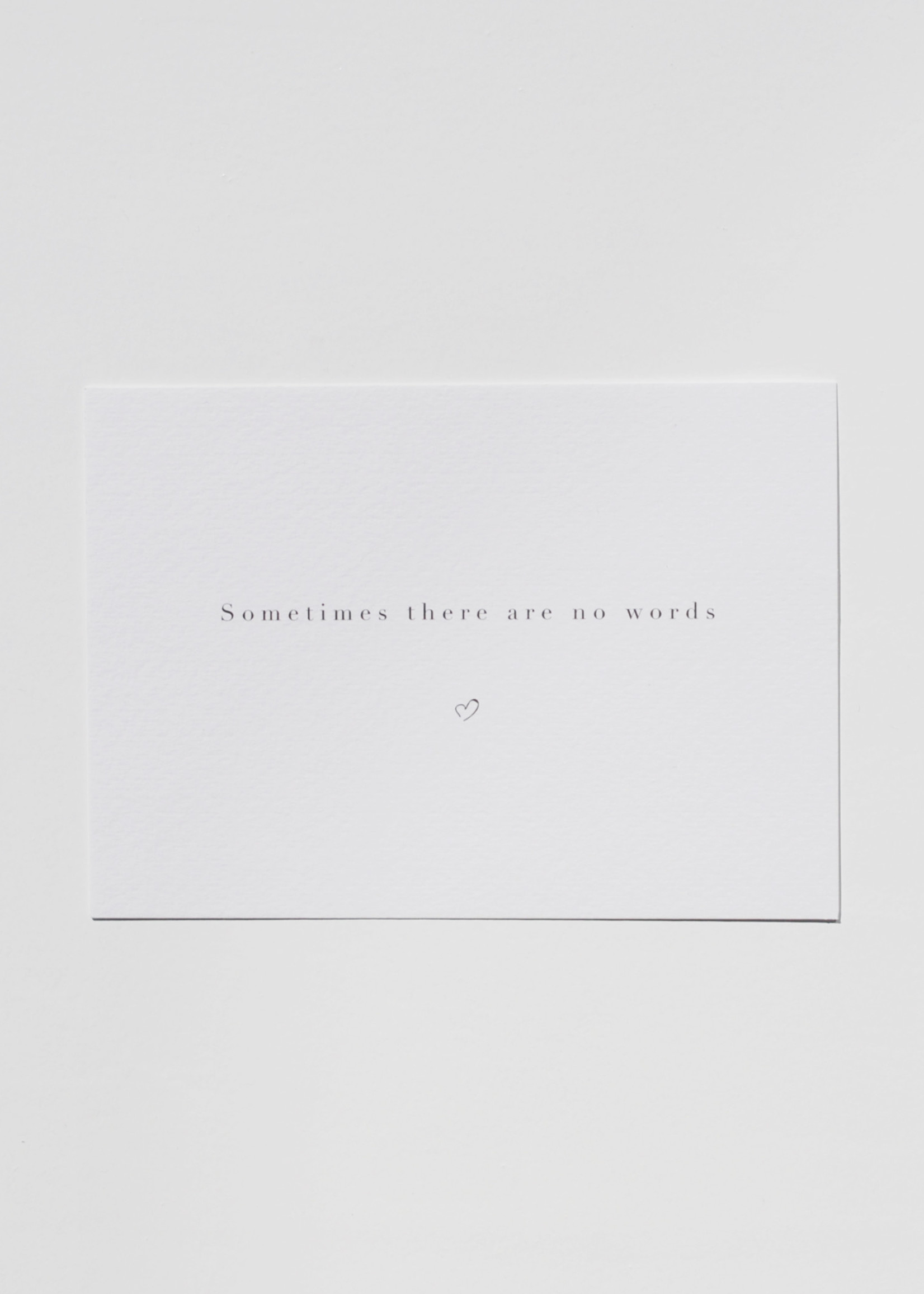 Mood card - sometimes there are no words