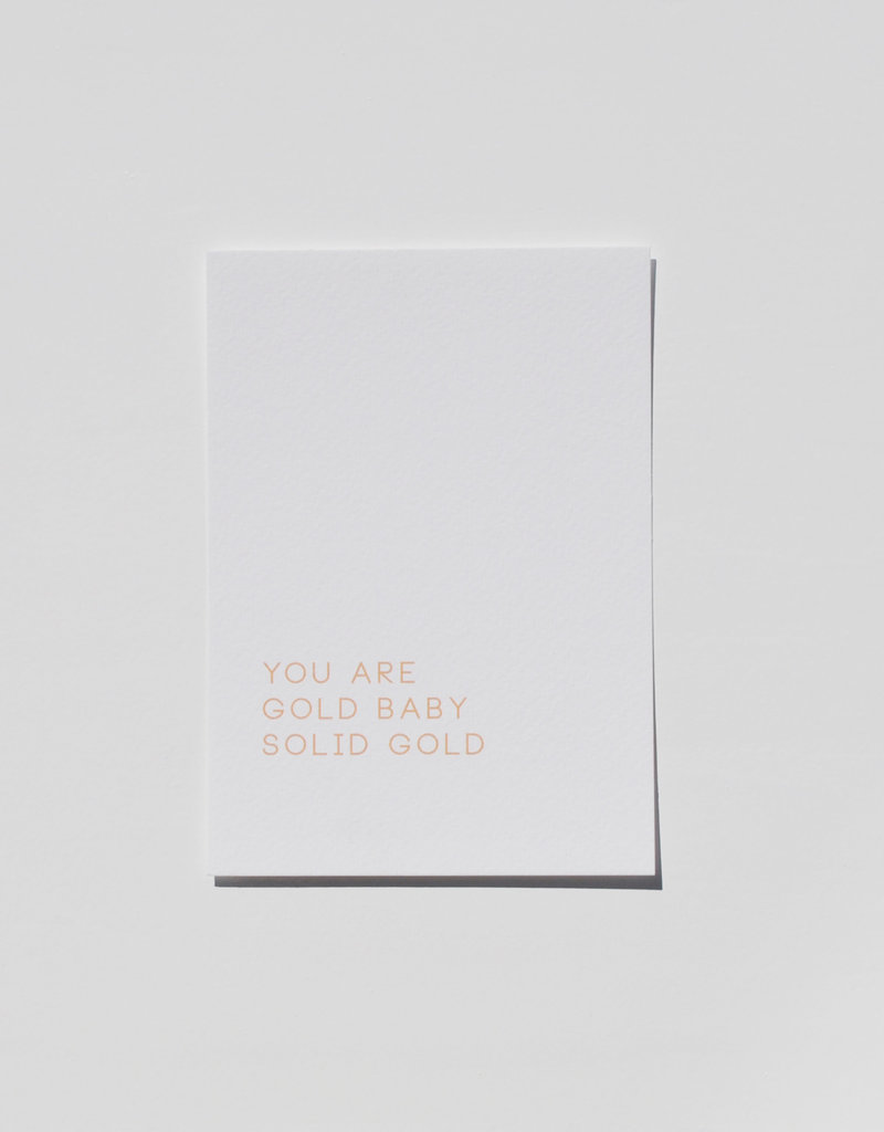 Mood card - your are gold baby, solid gold