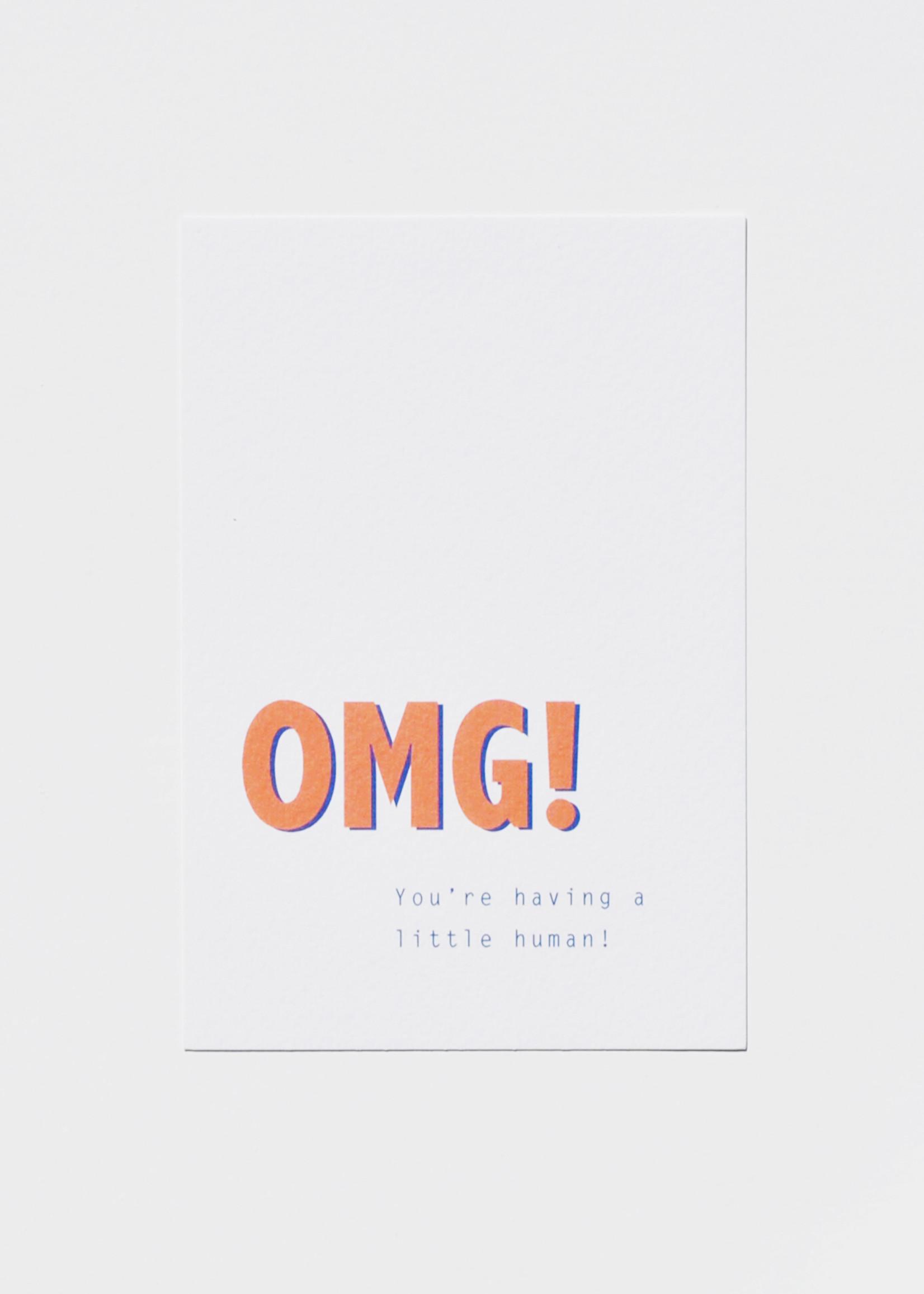 Mood card - OMG! you're having a little human!