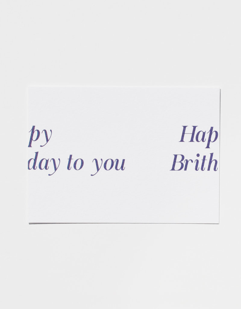 Mood card - py hap day to you brith