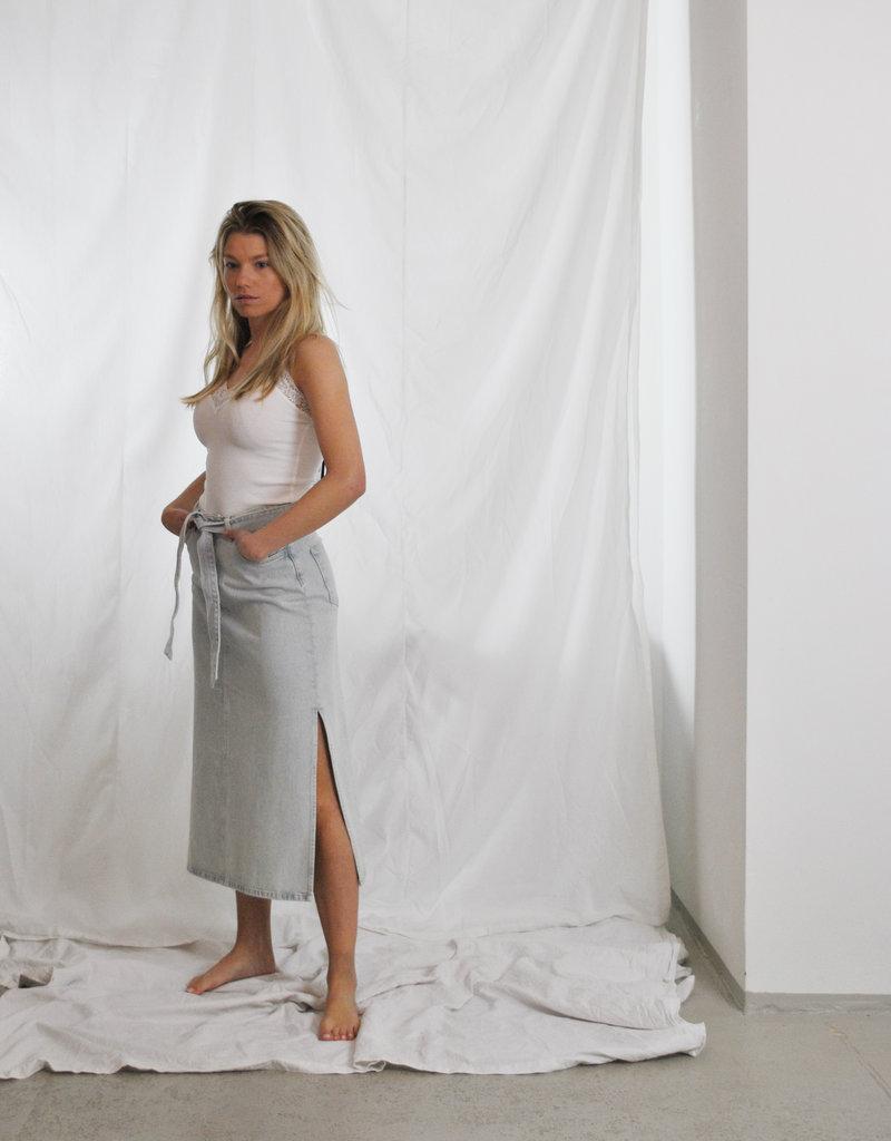 Selected Femme Alma hw long denim skirt