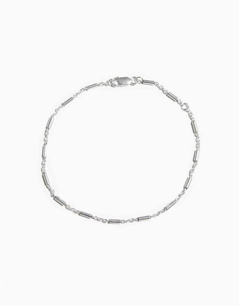 Fashionology  Multi Cylinder Bracelet Sterling Silver