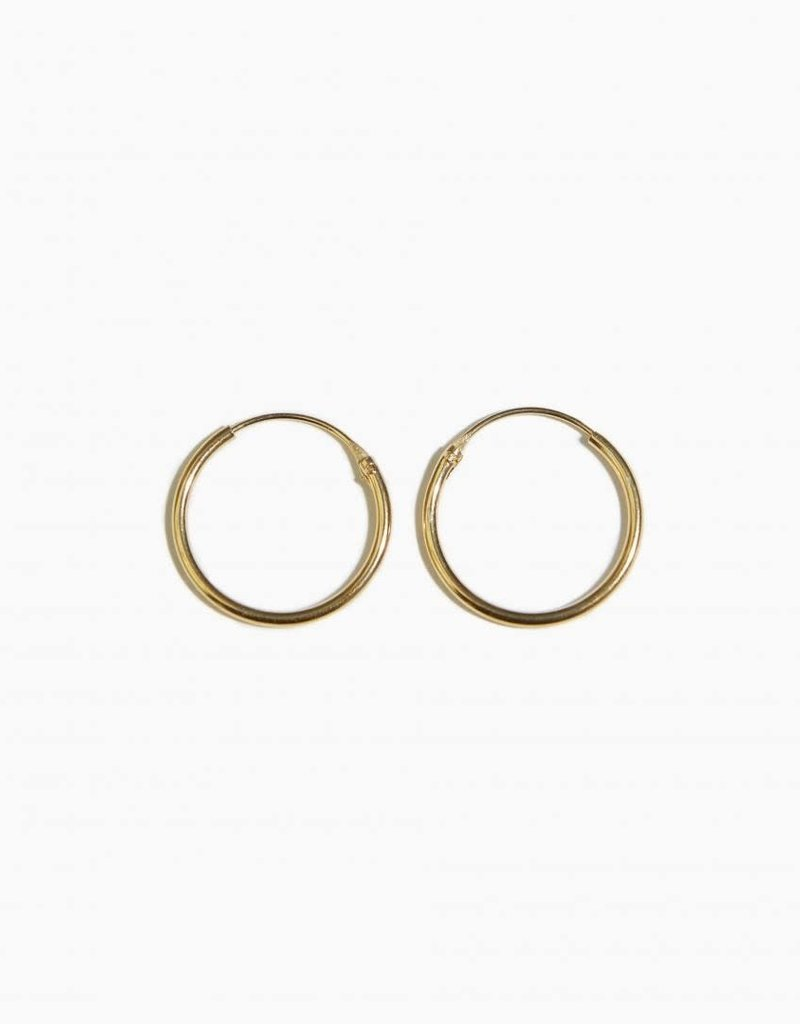 Fashionology Tiny Hoop Earrings 16mm Gold Plated