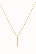 Flawed Necklace Drop Peach
