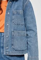Selected Femme Martha mid blue denim jacket