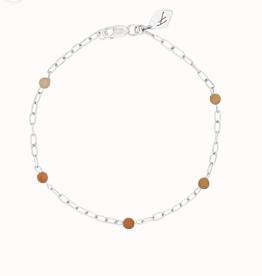 Flawed Peach moonstone chain bracelet