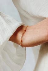 Flawed Peach moonstone chain bracelet