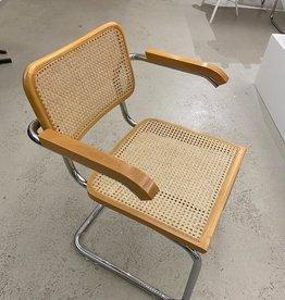 Vintage Thonet stijl stoel met leuning  - naturel