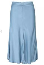 Second Female Eddy New MW Midi Skirt faded denim