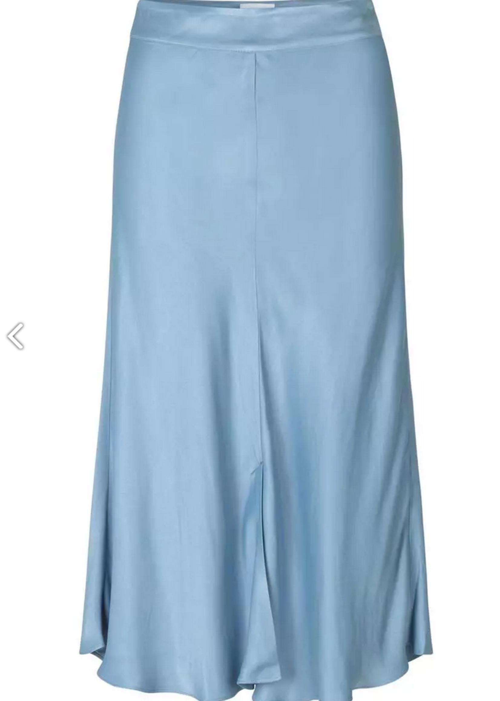 Second Female Second Female Eddy New MW Midi Skirt faded denim