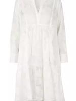 Second Female Mila LS midi dress white / S