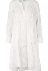 Second Female Mila LS midi dress white