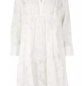 Mila LS midi dress white