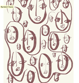 Paper Collective Random faces  50x70