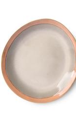 HKliving Side plate ceramic 70s earth