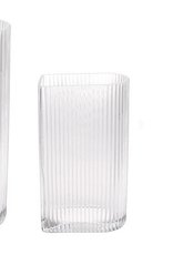 HKliving Vase clear ribbed small