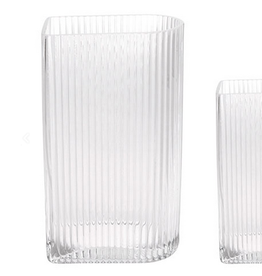 HKliving Vase clear ribbed large