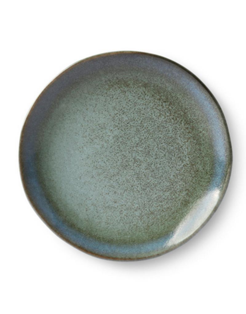 HKliving Dessert plate ceramic 70s moss