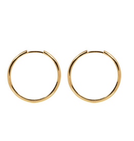 Eline Rosina Medium plain hoops gold plated