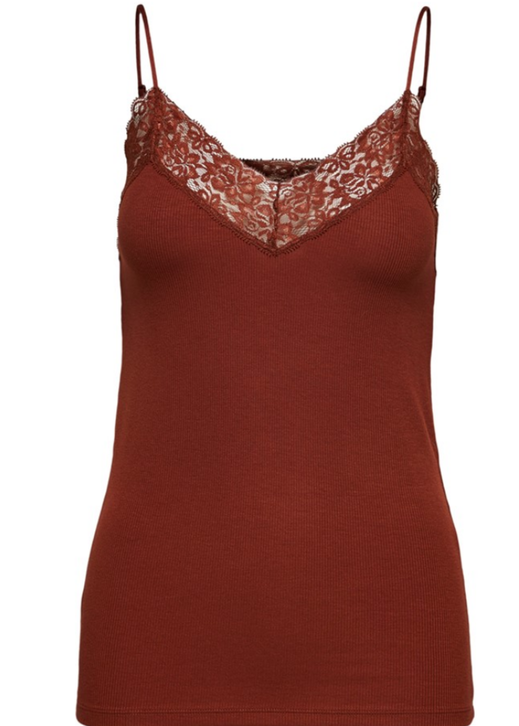 Selected Femme Mio Rib Lace Singlet