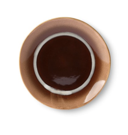 HKliving Dessert plate ceramic 70s stream