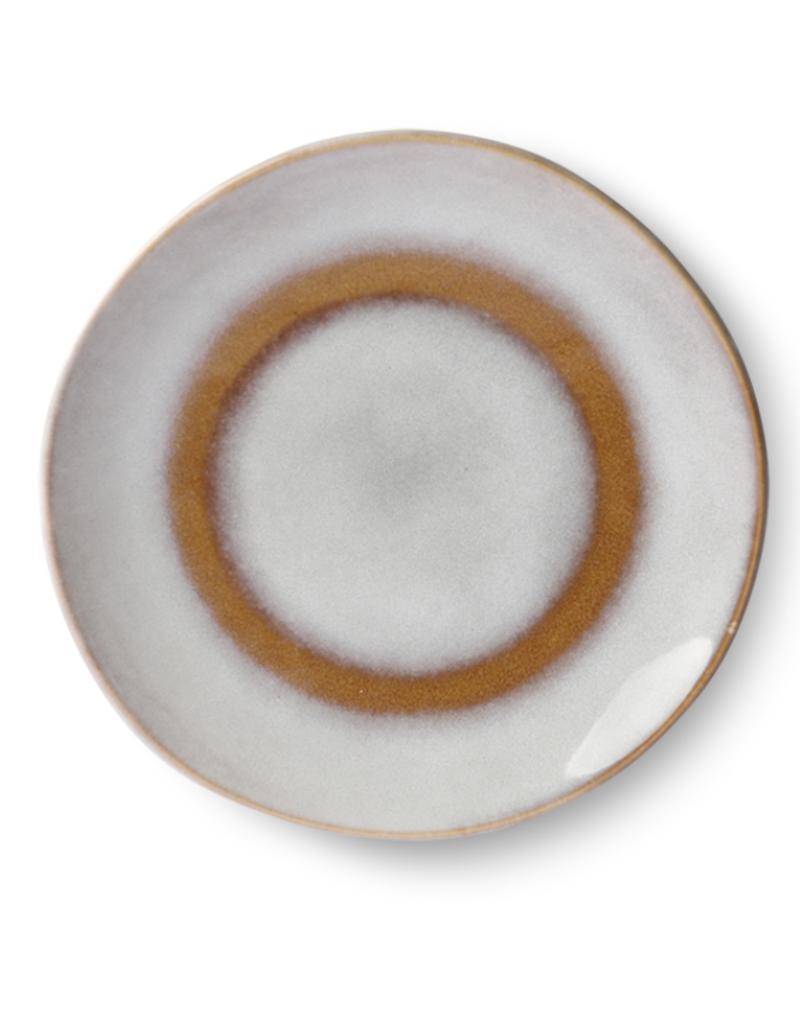 HKliving Dessert plate ceramic 70s snow