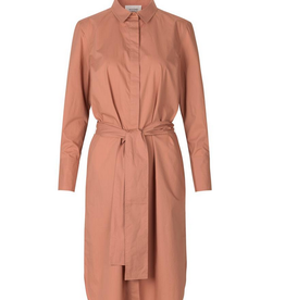 Second Female Larkin LS Midi Shirt Dress mocha