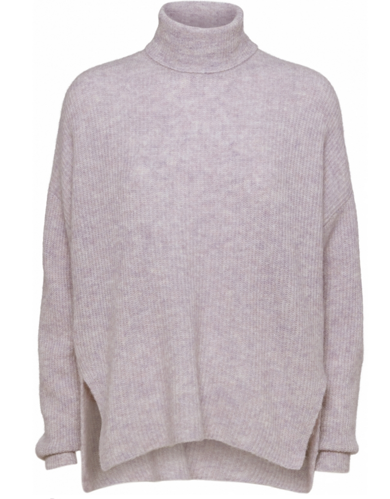 Norr Nordby roll neck light pink