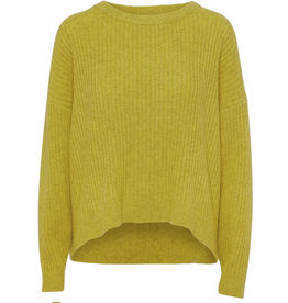 Norr Saga knit Moss yellow