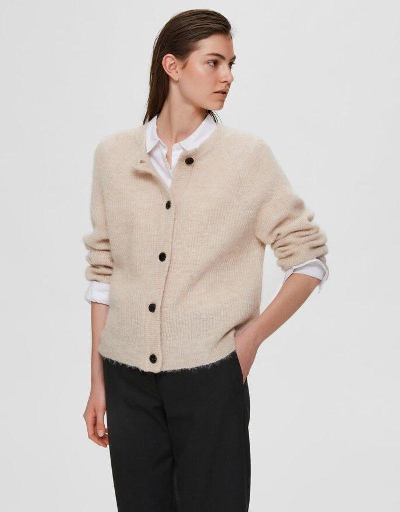 Selected Femme Lulu LS knit short cardigan noos
