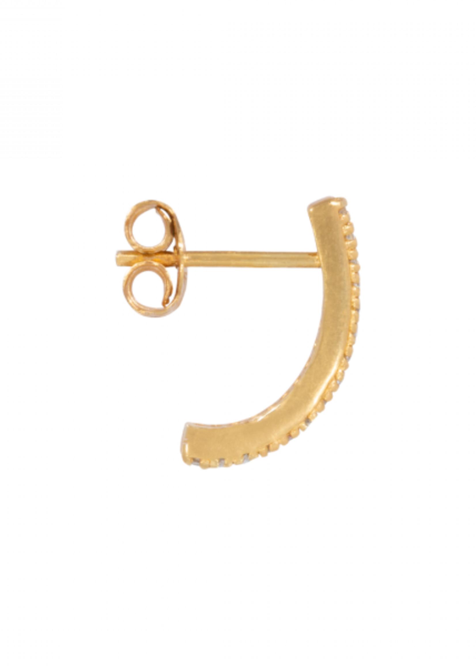 Eline Rosina Single hook in gold plated