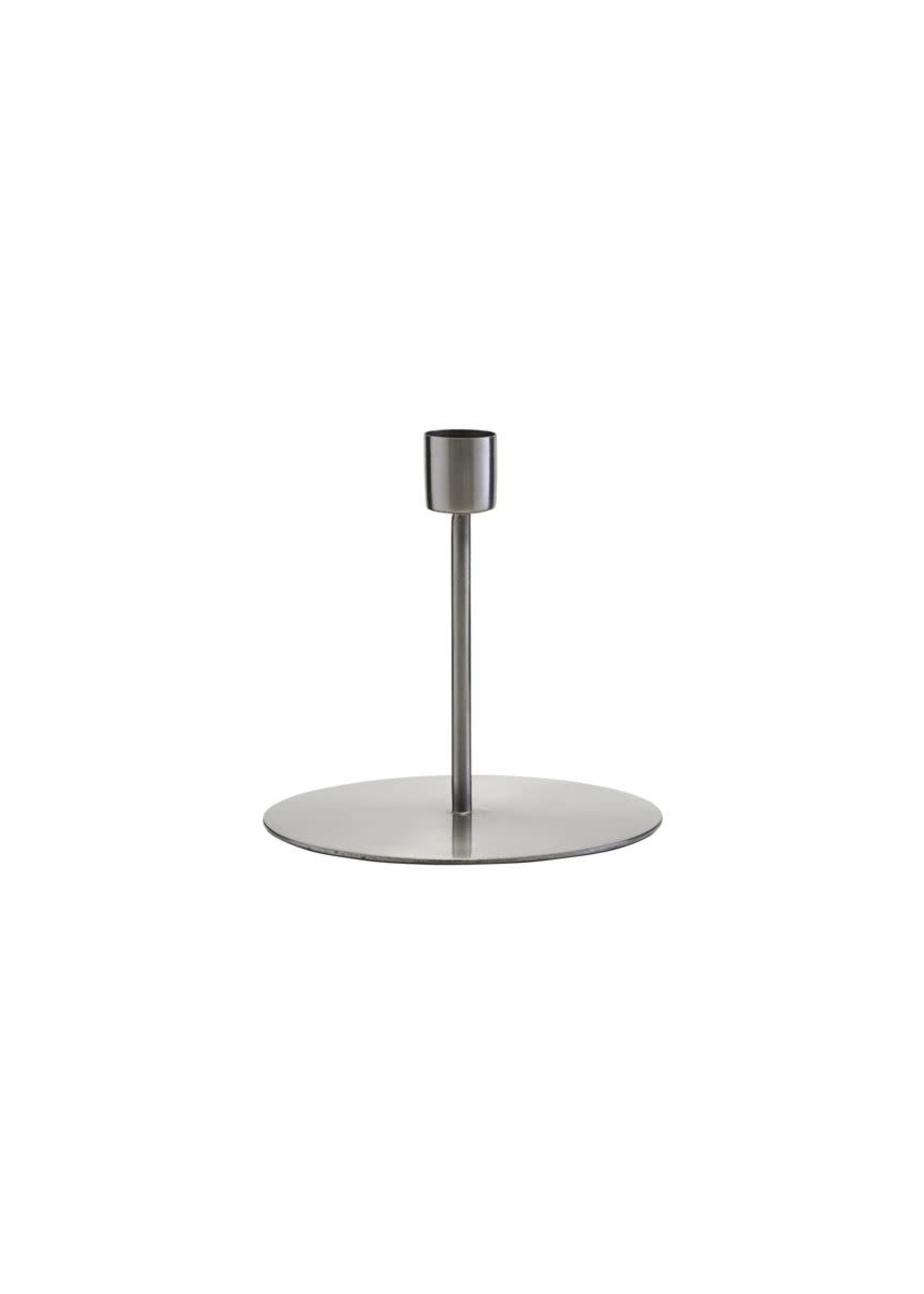 House Doctor Candle Stand, Anit, Silver