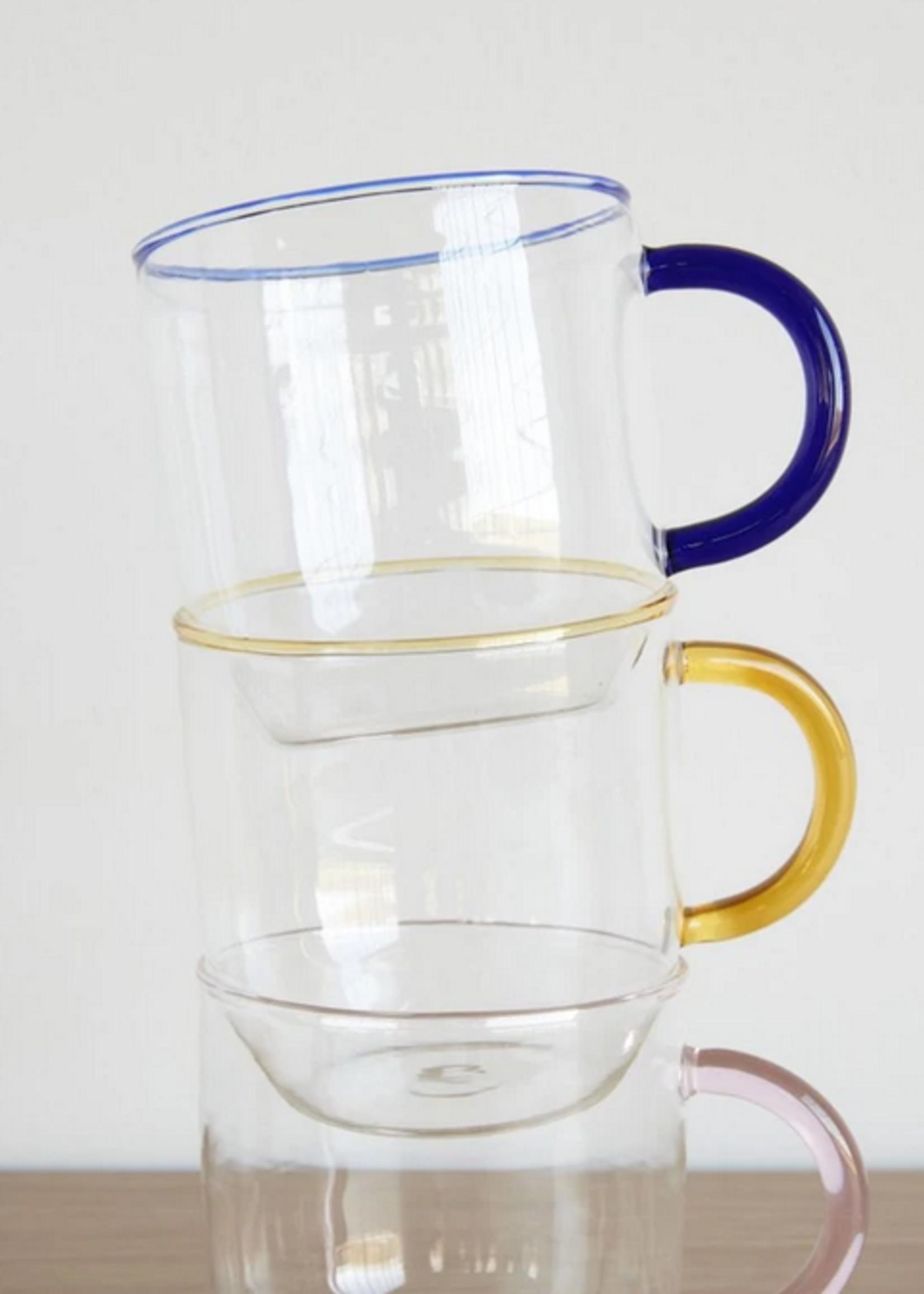 Hubsch Glass w/handle, clear