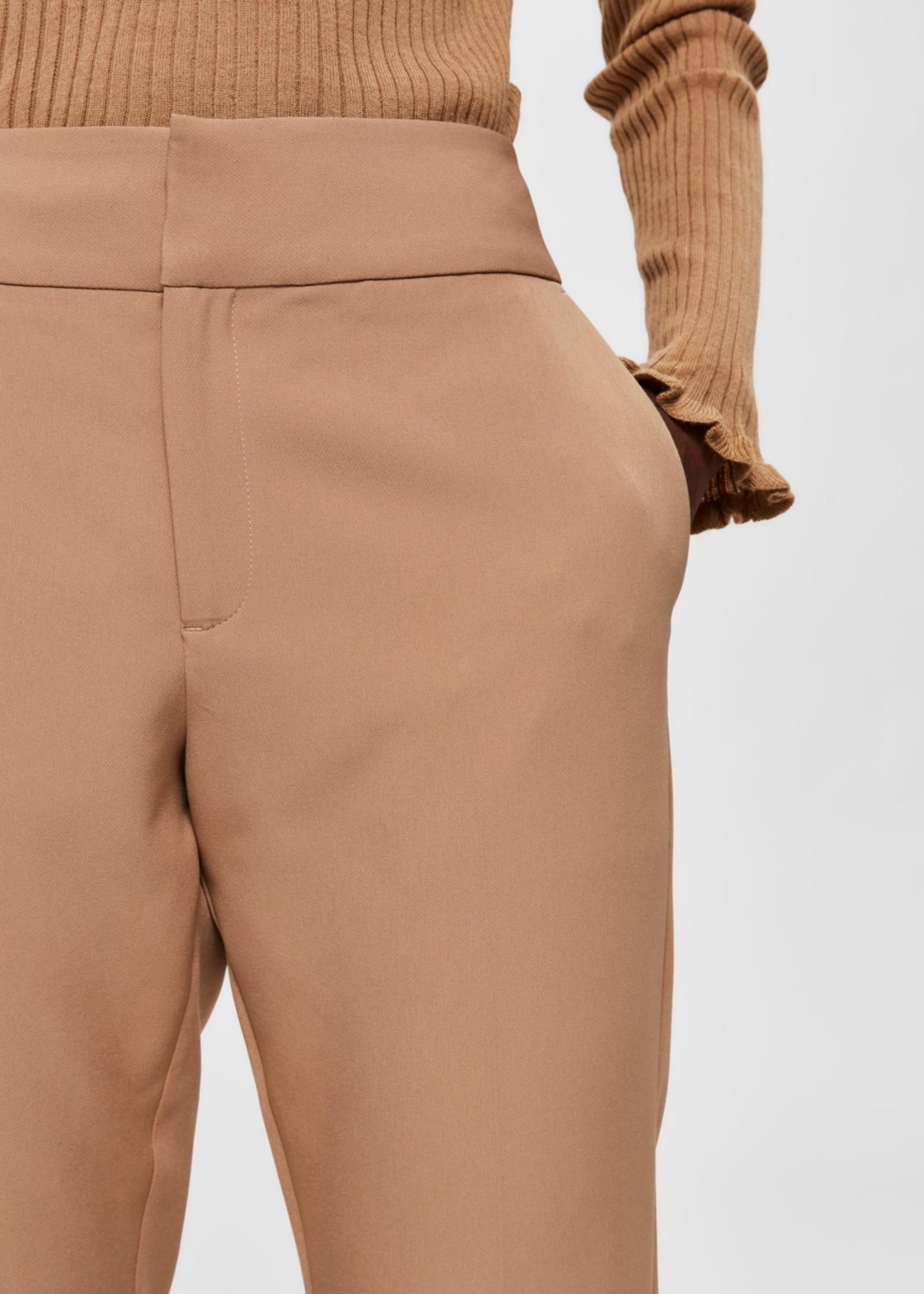 Selected Femme Fie pants Tiger Eye